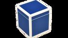 True Blue White Trim- Q-Tip Box