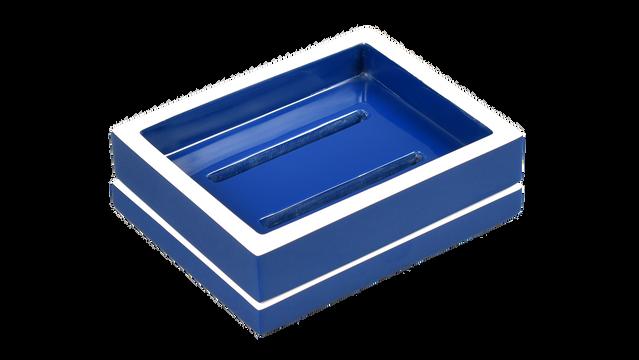 True Blue White Trim- Soap Dish