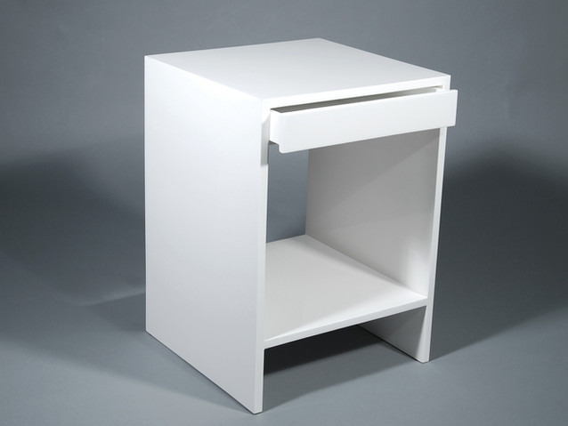 Capri Table With Drawer- White