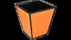 Orange Black Trim- Waste Basket