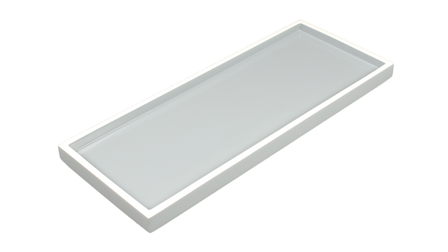 Cool Gray White Trim- Long Vanity Tray