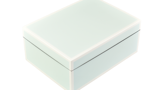 Five Side Duck Egg Blue with White- Medium Box