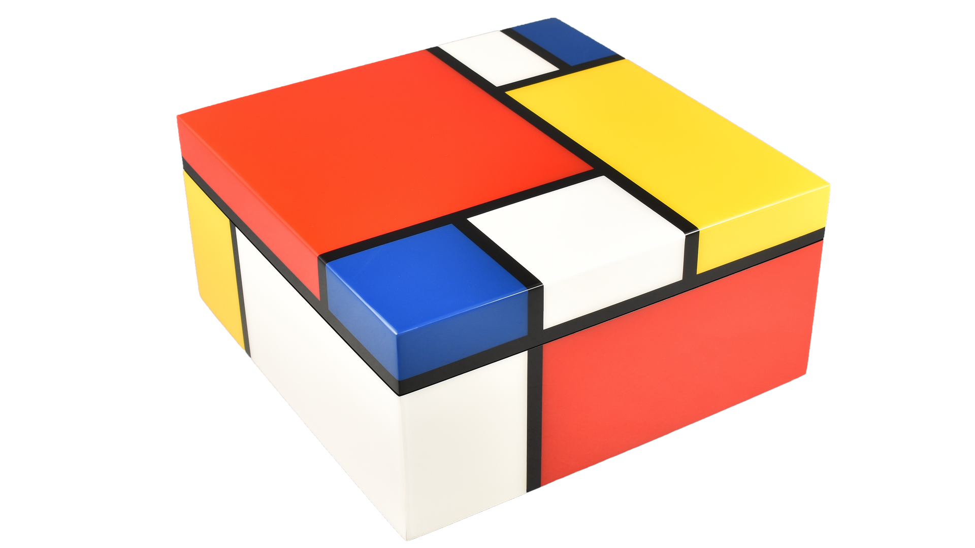 Mondrian- Hinged Box