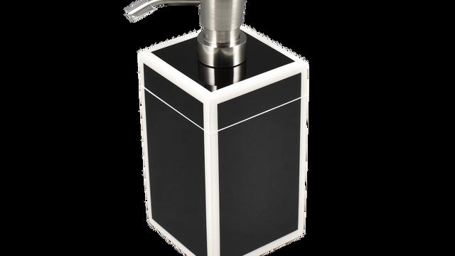 Black with White Trim- Lotion Pump