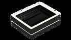 Black with White Trim- Soap Dish