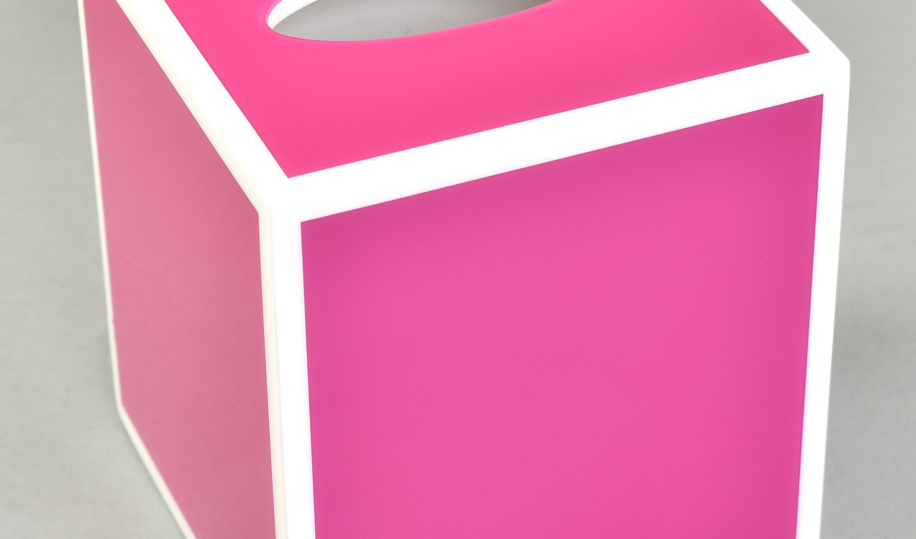 Hot Pink with White- Tissue Cover