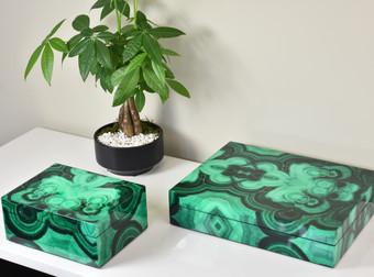 Medium & Stationery Boxes - Malachite