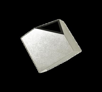 """5"""" Cube Flower Vase- Shine Silver Leaf"""