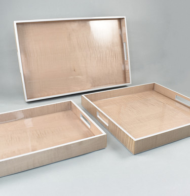Sycamore with Silver Dollar- Serving Trays