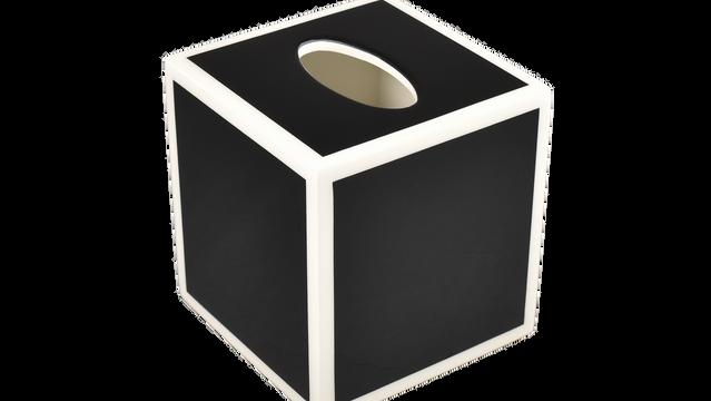 Black with White Trim- Tissue Cover
