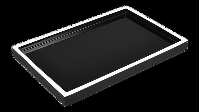 Black with White Trim- Vanity Tray