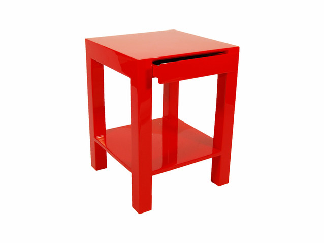 Lindo Side Table- Red