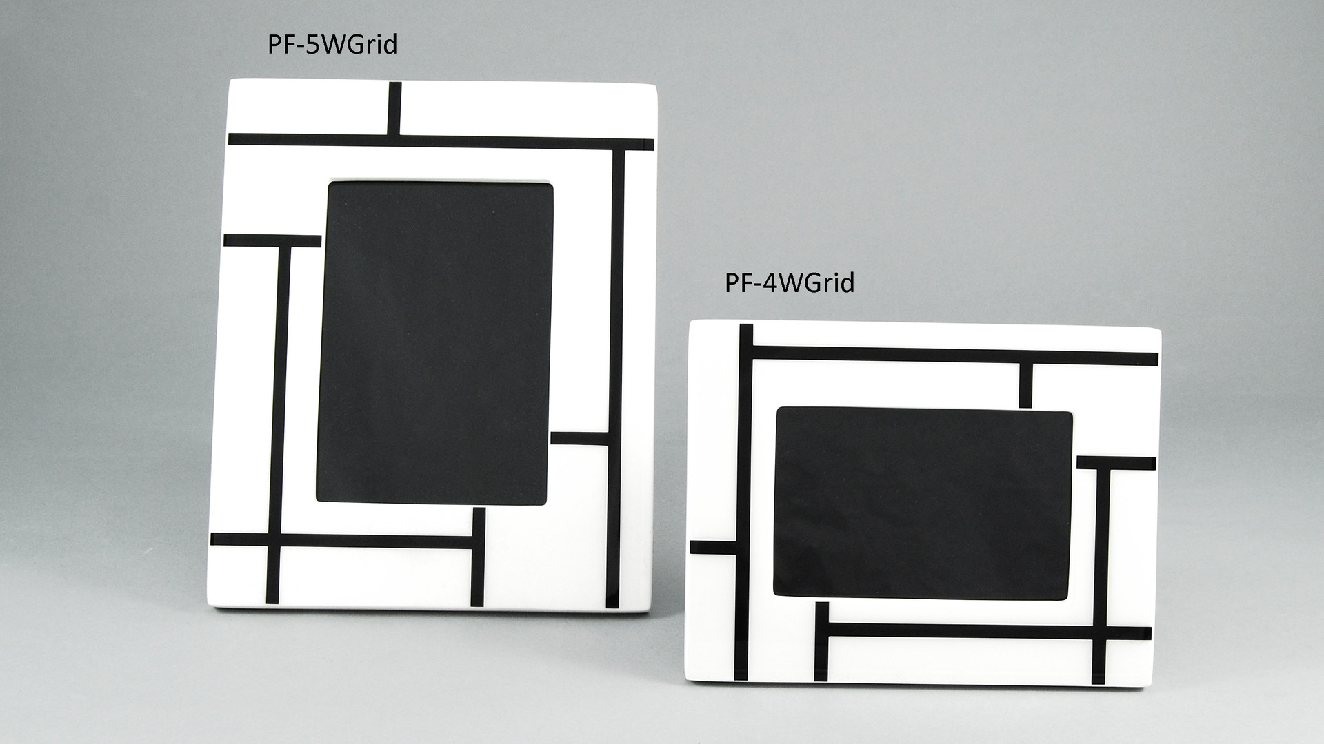 White Grid- Pictues Frames