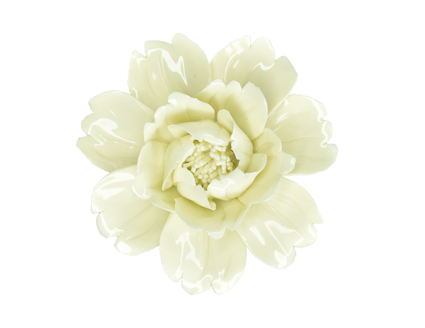 Yellow Porcelain Flower