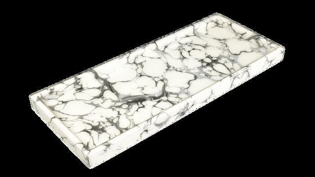 Cream Carrara- Long Vanity Tray