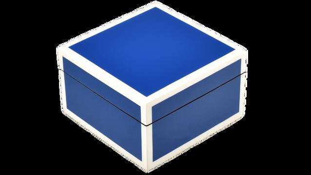 True Blue with White Trim- Square Box