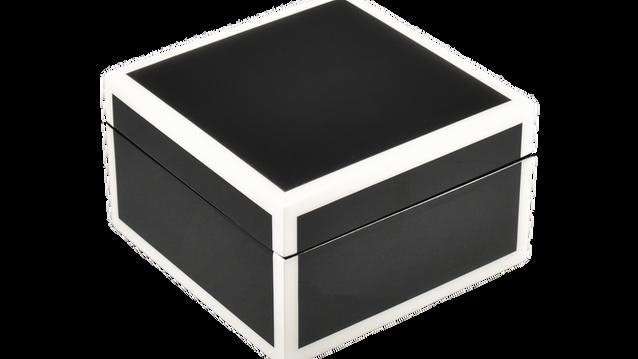 Black with White Trim- Square Box