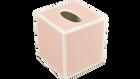 Paris Pink with White Trim- Tissue Cover