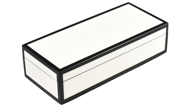 Five Side White with Black- Pencil Box