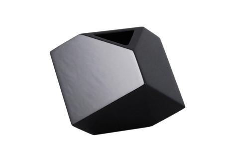 """Black - 7"""" Cube Flower Vase"""