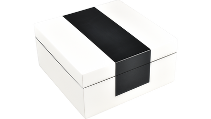 White with Black- Hinged Box