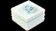 Five Side Duck Egg Blue with White, Blue Porcelain Flower