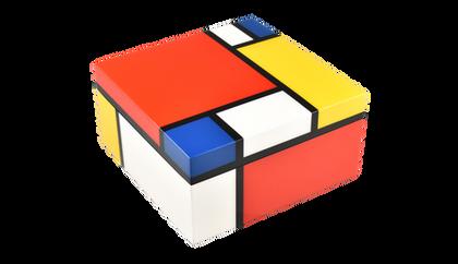 Mondrian- Hinged Box