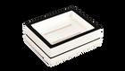 White with Black Trim- Soap Dish