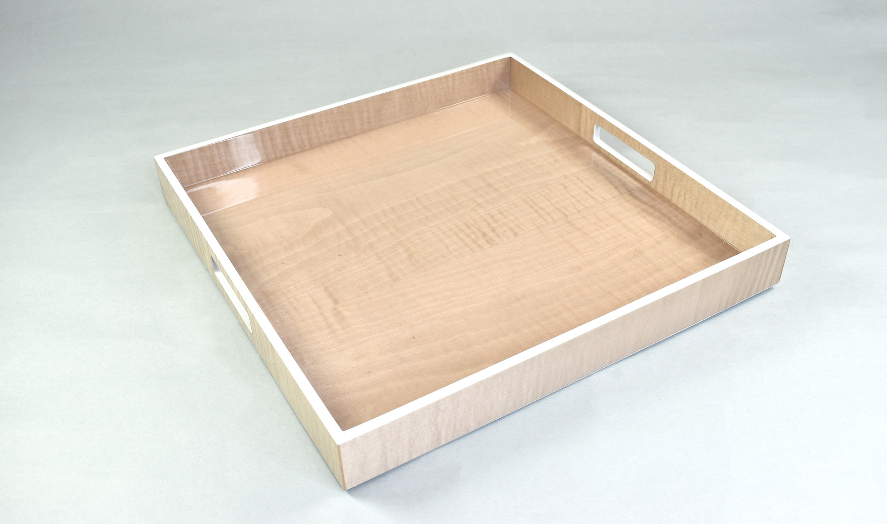 "Sycamore with Silver Dollar- 16"" Square Tray"