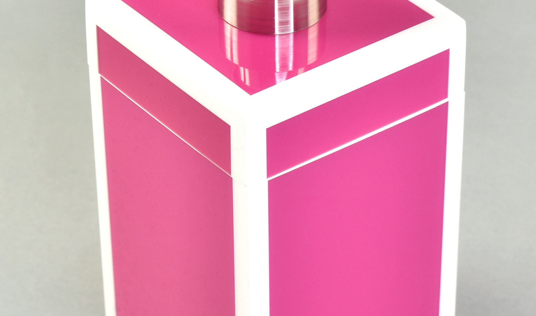 Hot Pink with White- Lotion Pump