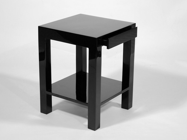"Lido Side Table 18""L- Black"