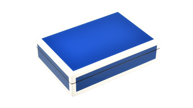 True Blue with White Trim- Playing Card Box