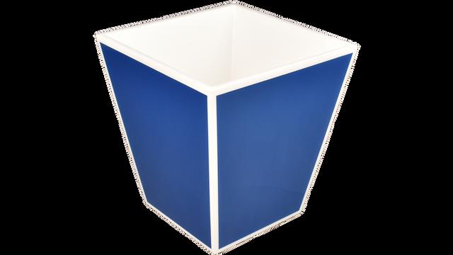 True Blue White Trim- Waste Basket