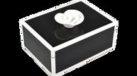 Black with White Trim- Medium Handle Box