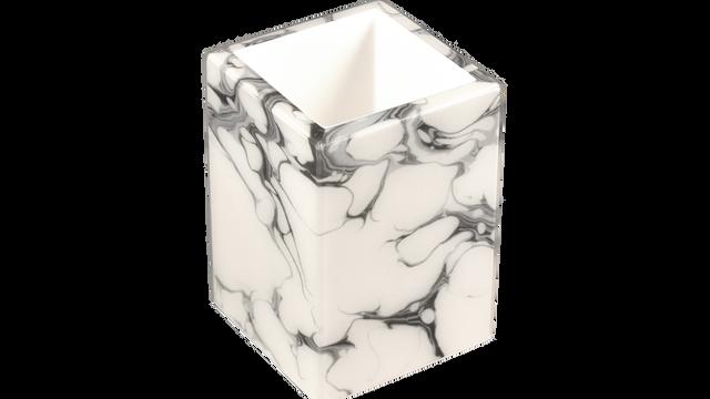 Cream Carrara- Brush Cup