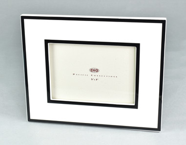 White with Black Trim- Picture Frame