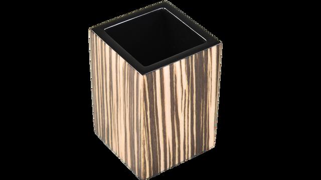 Zebra Wood- Brush Cup