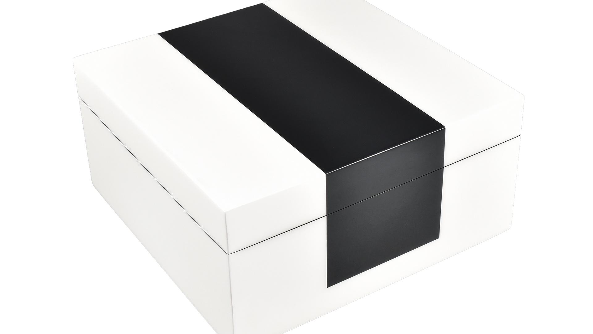 White with Black- Hinged Box