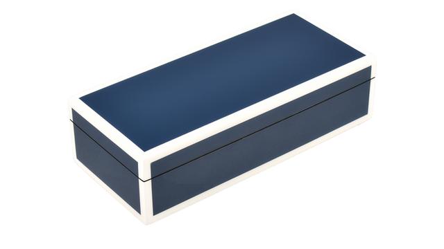 Five Side Navy Blue with White- Pencil Box