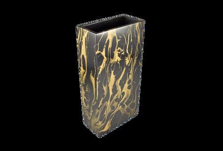 Black Gold Marble- Flower Vase