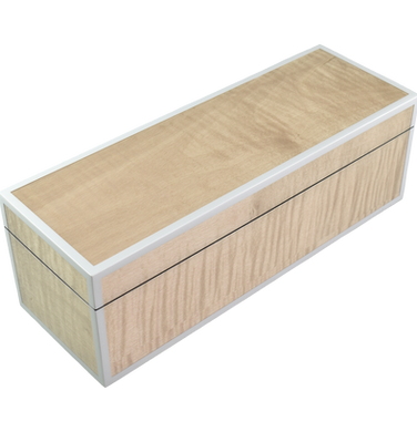 Sycamore with Silver Dollar - Hinged Box
