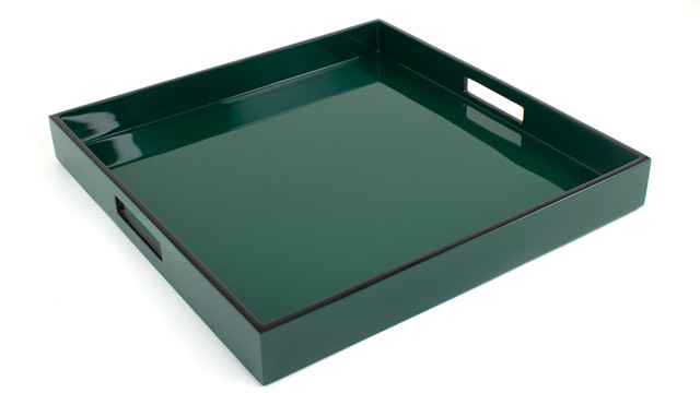 """Forest Green - 16"""" Square Tray"""