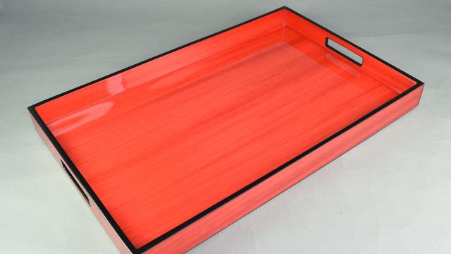 Red Tulipwood with Black Trim- Breakfast Tray