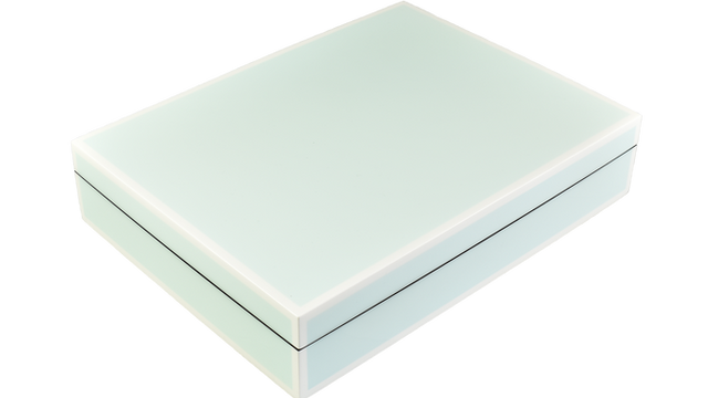 Five Side Duck Egg Blue with White- Stationery Box