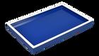 True Blue White Trim- Vanity Tray