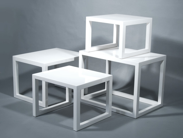 Nested Table: Set of 4- White