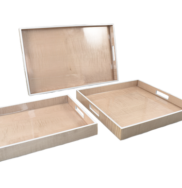 Sycamore with Silver Dollar - Serving Trays