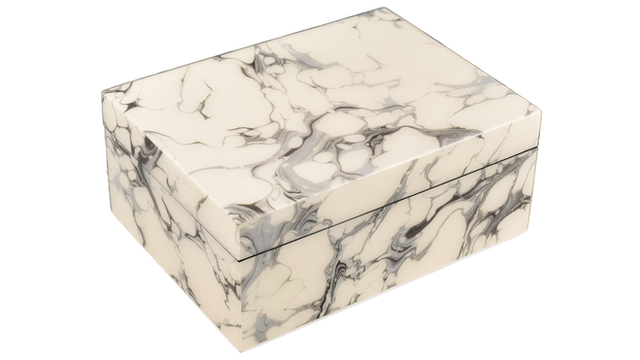 Cream Carrara- Medium Box