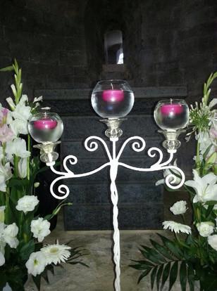 Chandelier bougies flottantes