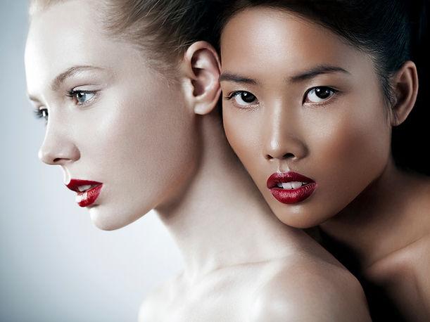 Beautiful makeup application.
